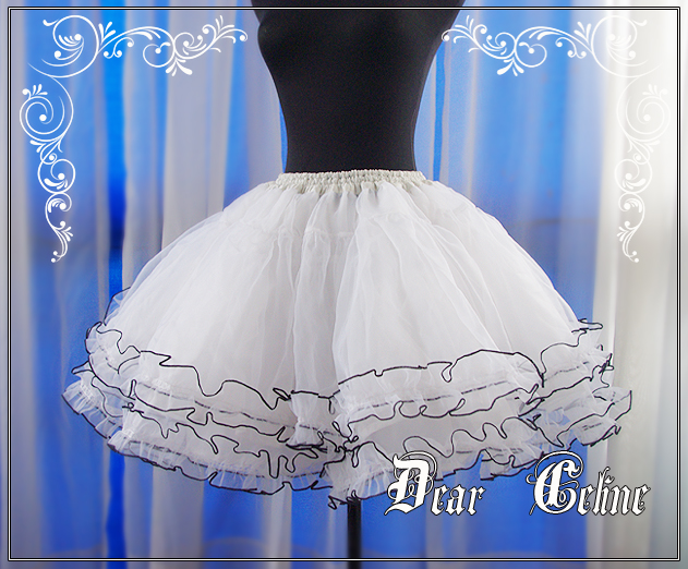 •*´¨`*•.¸¸.♥Lolita's World♥ Club Lolita + Harajuku Lovers♥.¸¸.•*´¨`*• Dear_celine_white_frothy_petticoat_with_black_trim